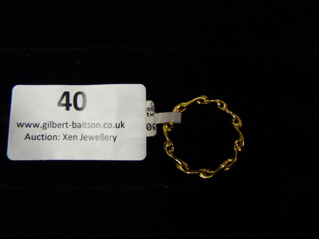 Lot 40 - *Gold Plated Twisted Ring