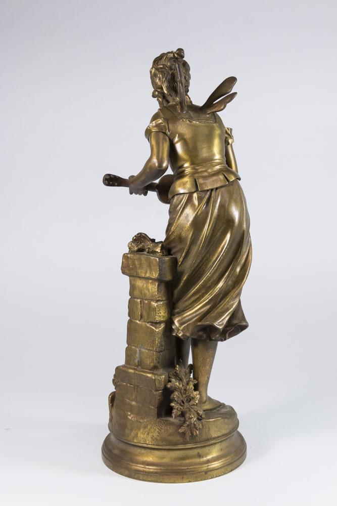 Bronze Sculpture After Eutrope Bouret Of Cigale Signed