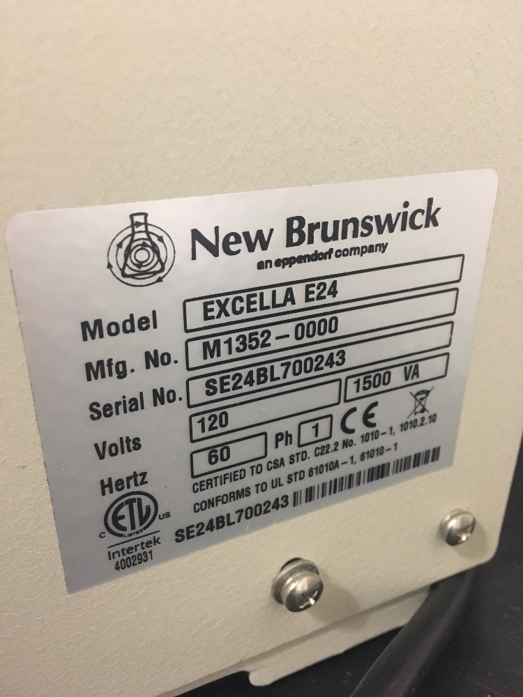 Lot 51 - New Brunswick Scientific Excella E24 Incubator Shaker Series