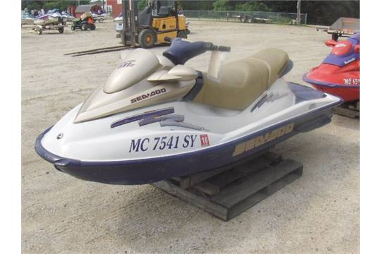 2003 SEADOO 720 GTI ZZN03312K203 Jet Ski Electric Start And Reverse Sold With A Signed Title