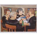 BERYL COOK, FRAMED LIMITED EDITION PENCIL SIGNED PRINT- BRIDGE PARTY,