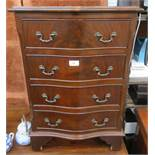 20th CENTURY SMALL MAHOGANY CHEST OF FOUR DRAWERS