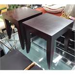 SIDE TABLES, a pair, contemporary, 51cm H.