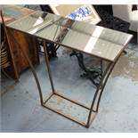 CONSOLE TABLE, 1950's French style with antiqued mirror top, 80cm x 35cm x 80cm.
