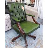 DESK CHAIR, in the English country house style, 97cm H.