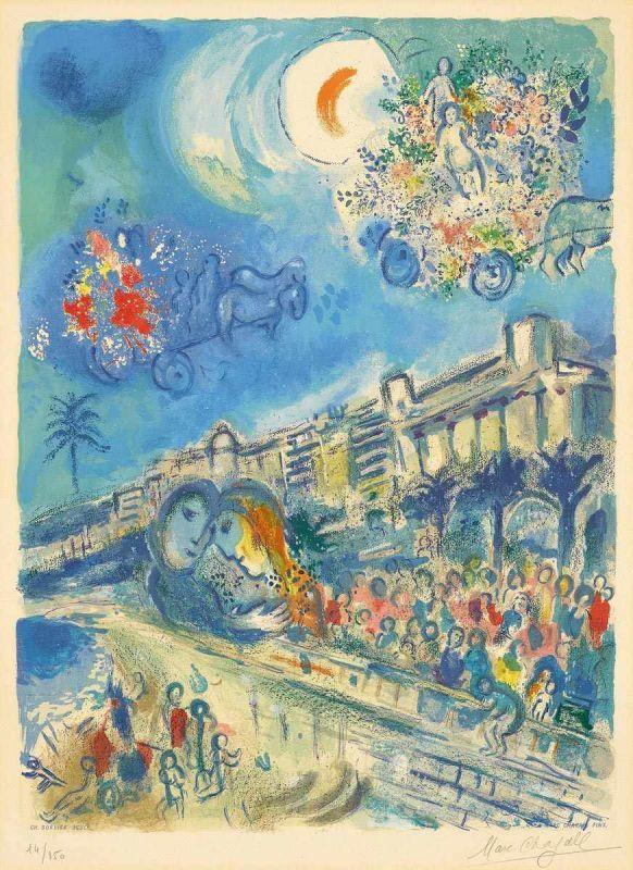 Nach marc chagall witebsk 1887 1985 saint paul de vence for Chagall st paul de vence