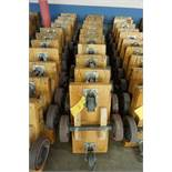 """Lot of (10) 13"""" x 30"""" Four Wheel Wood Dollies