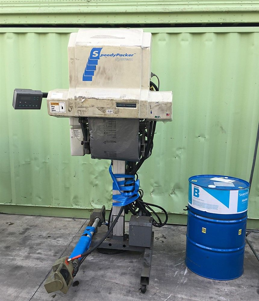 Lot 10 - SPEEDYPACKER SP3-1919 FOAM IN BAG PACKING SYSTEM WITH DRUM MODEL # SP3-1919 ELECTRICAL 200-240 VOLTS