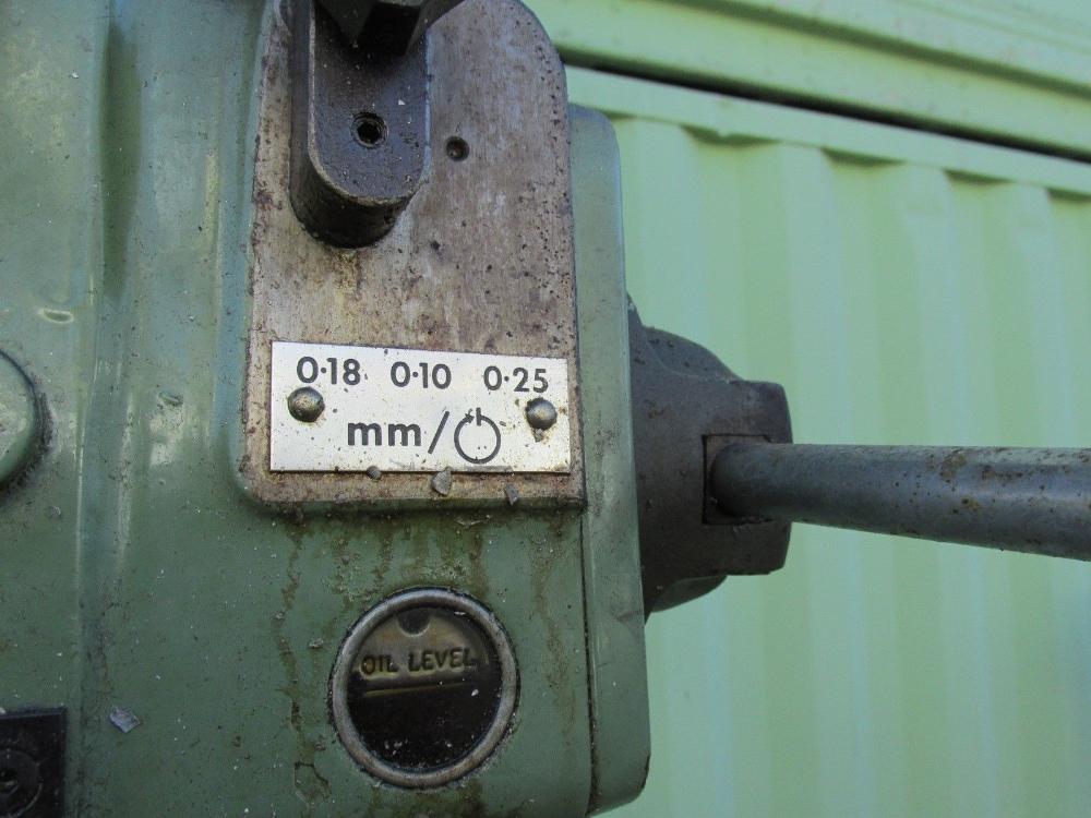 """Lot 7 - 1.5 kW POLLARD PILLAR DRILLING MACHINE DRILL PRESS MODEL 150A1 MODEL 150A1 YEAR: 1996 THROAT: 7.5"""""""