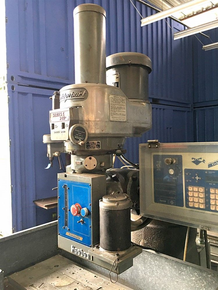 Lot 5 - 9 x 42 BRIDGEPORT 3-AXIS CNC MILL MILLING MACHINE W/ BANDIT CONTROL THE HASBACH CO BANDIT