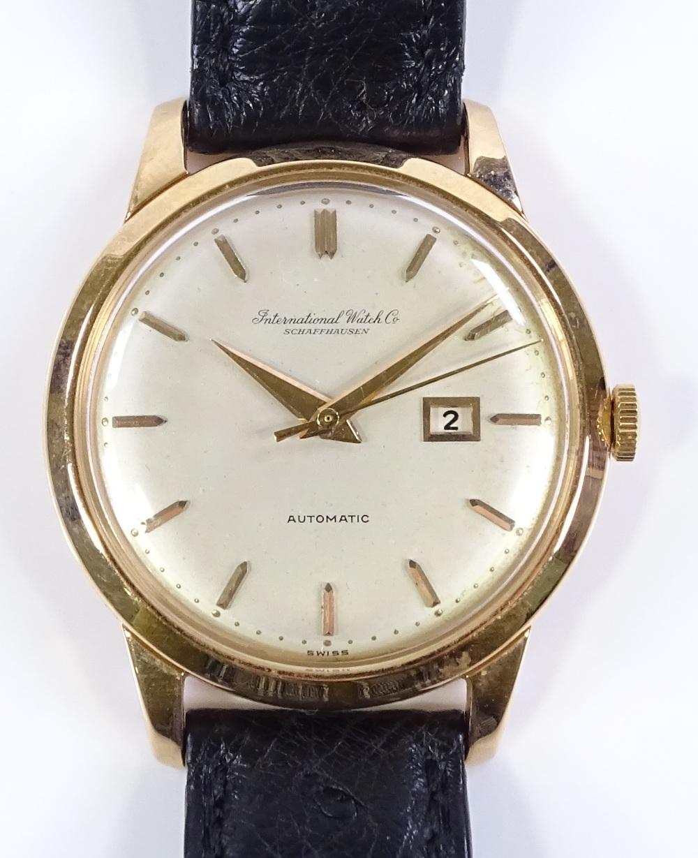 Lot 300 - An 18ct gold International Watch Company (IWC) Schaffhausen Automatic wristwatch, circa 1950s,
