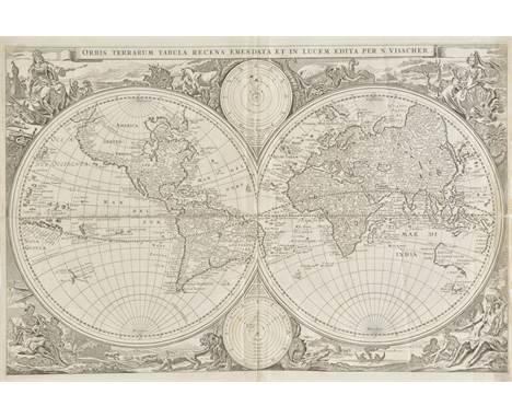 World. Visscher (Nicholas J.), Orbis Terrarum Tabula Recens Emendata et in Lucem Edita per N.Visscher, published Amsterdam, [