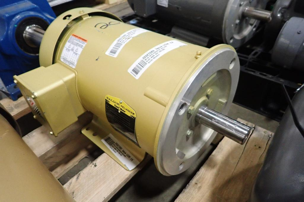 Lot 2030 - (3) Baldor electric motors, 5 hp, 5hp, 3 hp. (See photos for additional specs). **Rigging Fee: $25**