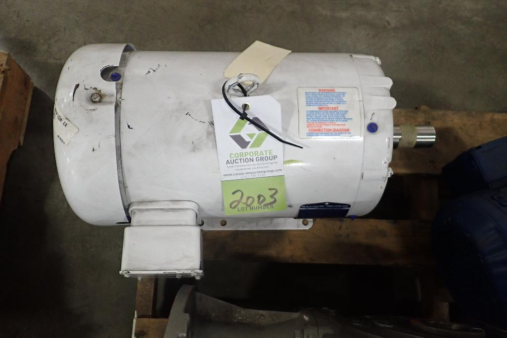Lot 2003 - Baldor 10 hp electric motor. (See photos for additional specs). **Rigging Fee: $25** (Located in Eag