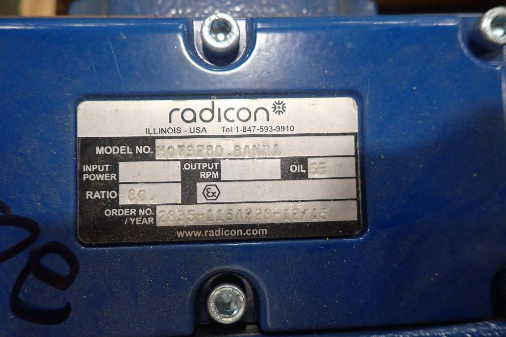 Lot 2031 - (3) New Radicon gearboxes. (See photos for additional specs). **Rigging Fee: $25** (Located in Eagan