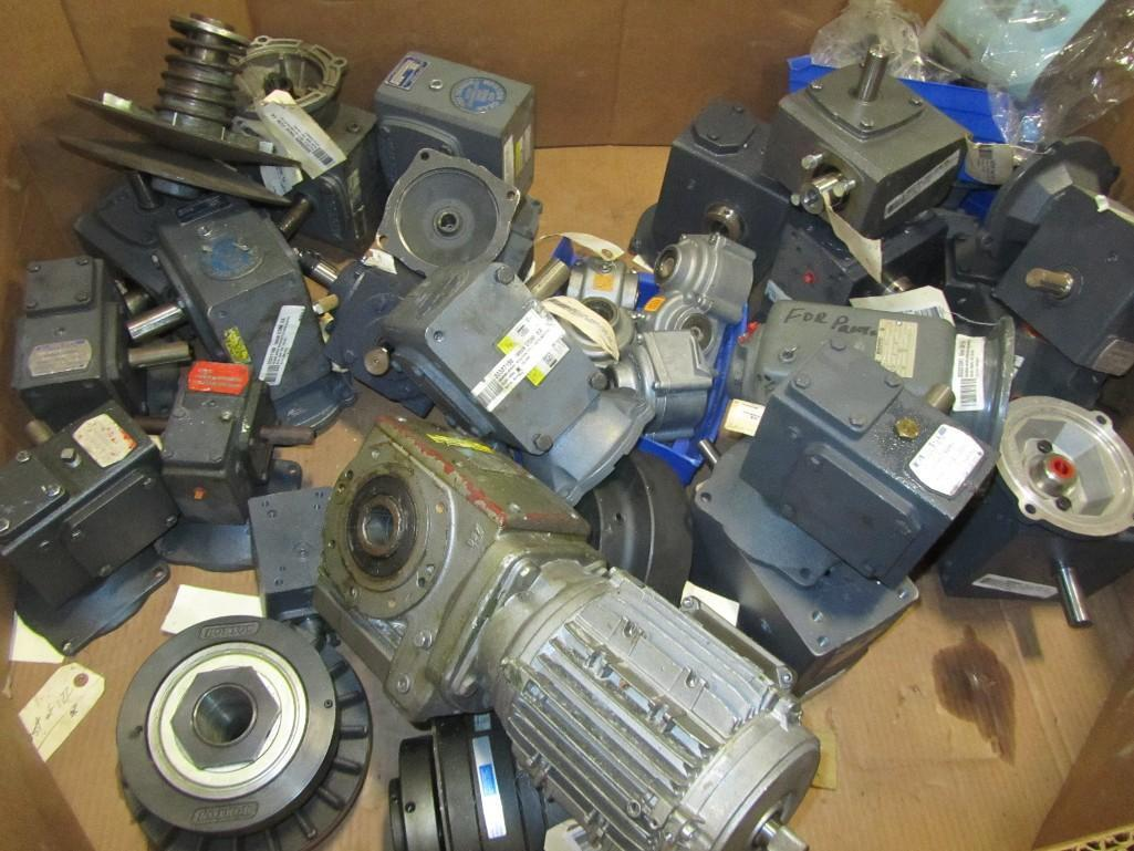 Lot 2050 - Pallet of assorted electric motors and gearboxes. (See photos for additional specs). **Rigging Fee: