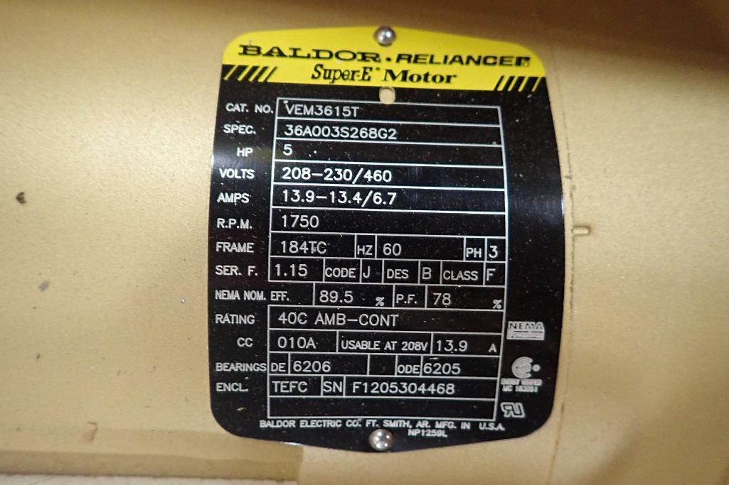 Lot 2033 - New Baldor 5 hp electric motor. (See photos for additional specs). **Rigging Fee: $25** (Located in