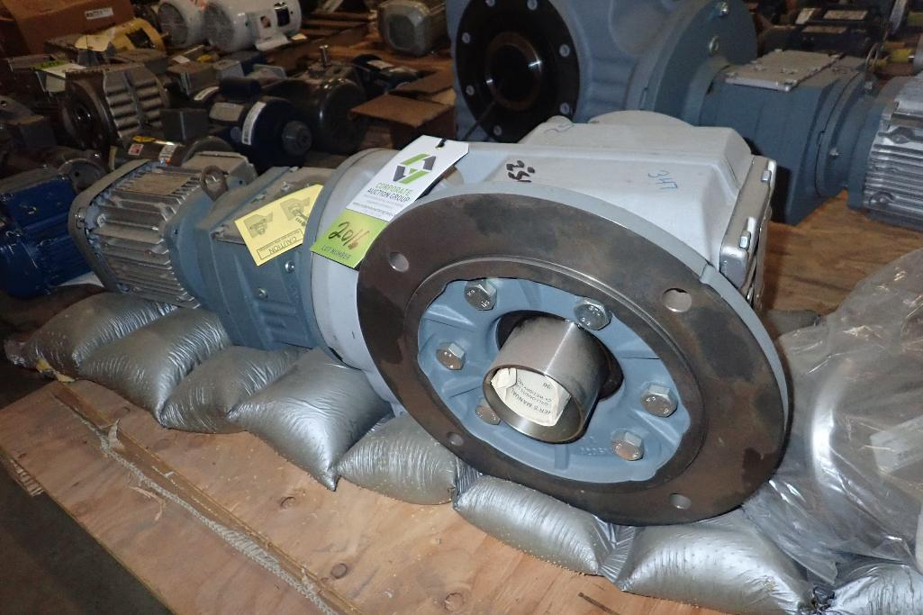 Lot 2016 - SEW 1.5 hp electric motor and gearbox. (See photos for additional specs). **Rigging Fee: $25** (Loca