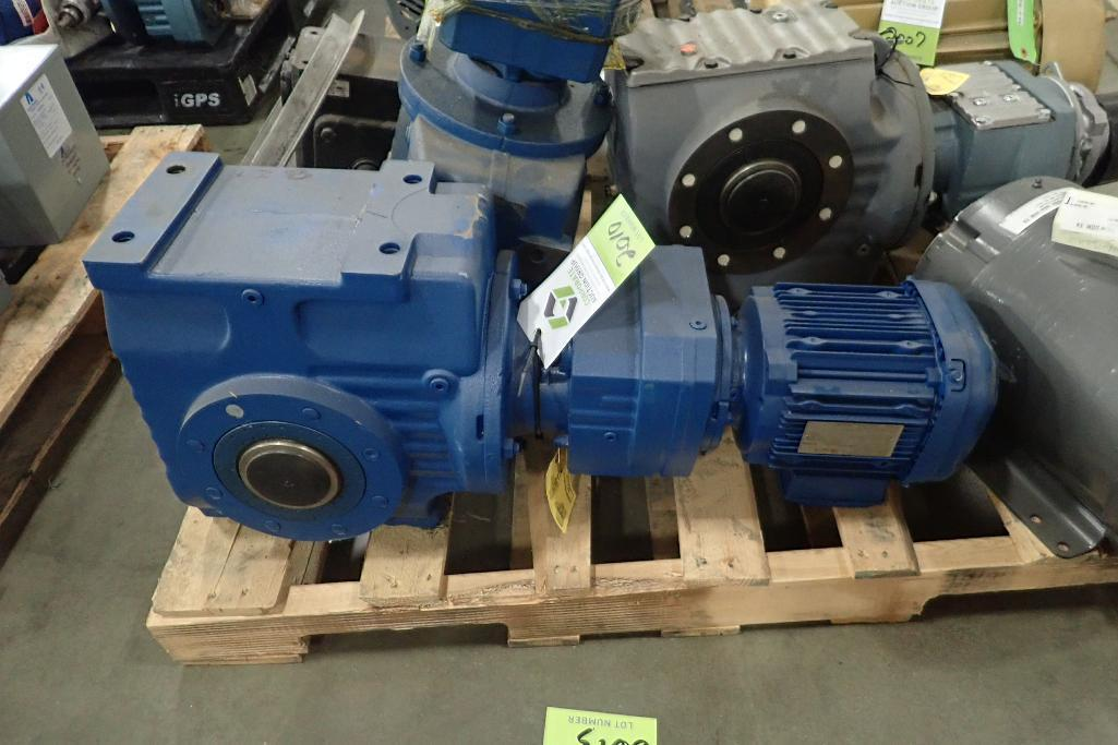Lot 2010 - SEW 1.5 hp electric motor and gearbox. (See photos for additional specs). **Rigging Fee: $25** (Loca