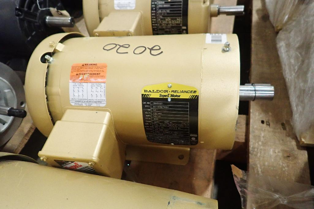Lot 2020 - (6) assorted electric motors, 1 hp to 1.5 hp. (See photos for additional specs). **Rigging Fee: $25*
