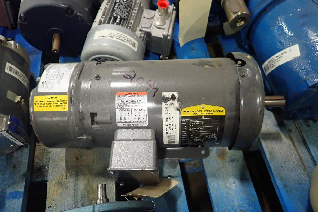 Lot 2044 - Pallet of assorted electric motors. (See photos for additional specs). **Rigging Fee: $35** (Located