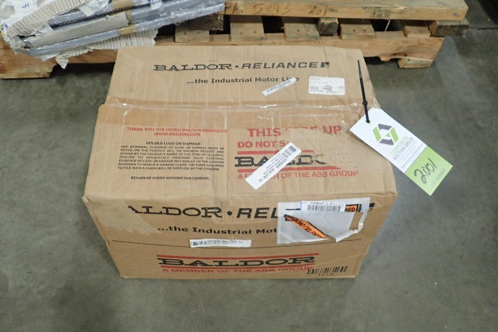 Lot 2001 - New Baldor 2 hp electric motor. (See photos for additional specs). **Rigging Fee: $25** (Located in