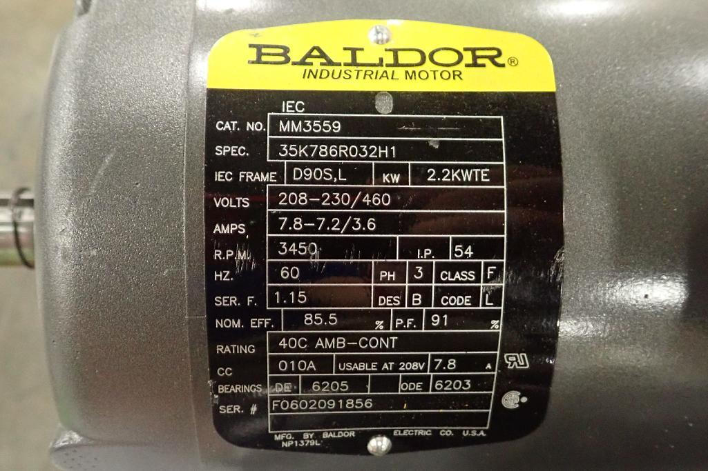 Lot 2053 - Pallet of Baldor electric motors. (See photos for additional specs). **Rigging Fee: $25** (Located i