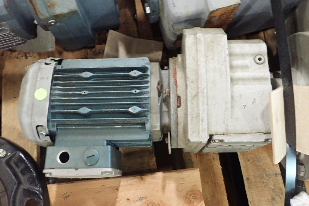 Lot 2054 - (2) Sew electric motors with gearboxes. (See photos for additional specs). **Rigging Fee: $25** (Loc