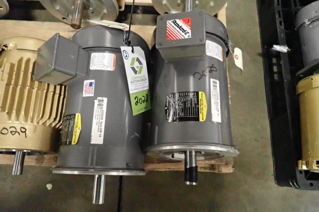 Lot 2028 - (2) Baldor 5 hp electric motors. (See photos for additional specs). **Rigging Fee: $25** (Located in