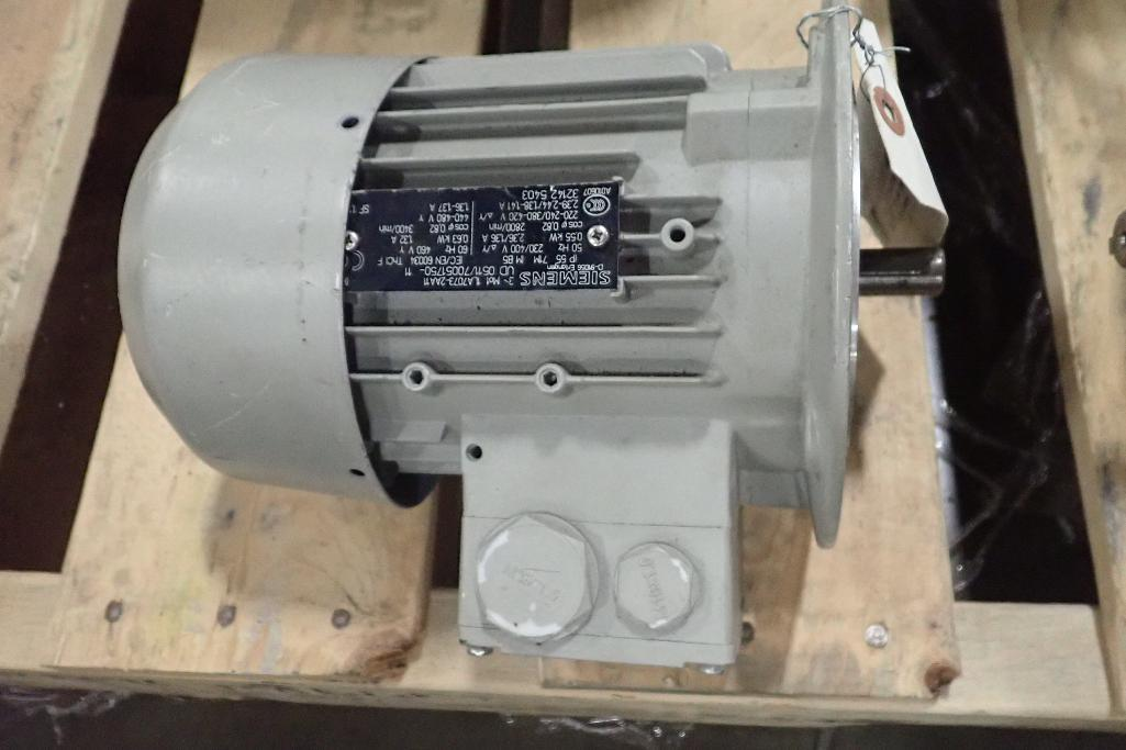 Lot 2052 - Pallet of assorted electric motors and gearboxes. (See photos for additional specs). **Rigging Fee:
