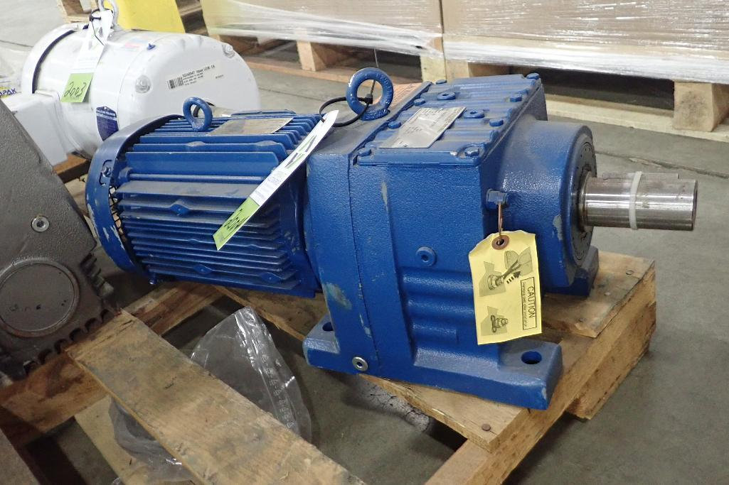 Lot 2004 - SEW 3 hp electric motor and gearbox. (See photos for additional specs). **Rigging Fee: $25** (Locate