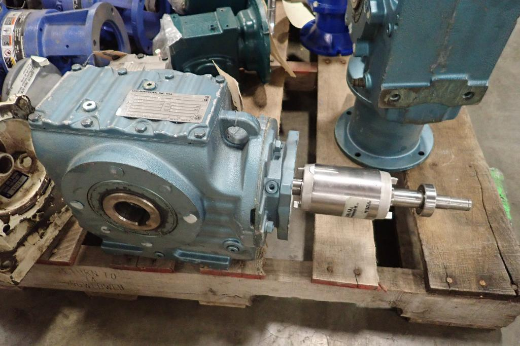 Pallet of assorted gearboxes. (See photos for additional specs). **Rigging Fee: $25** (Located in Ea - Image 16 of 65