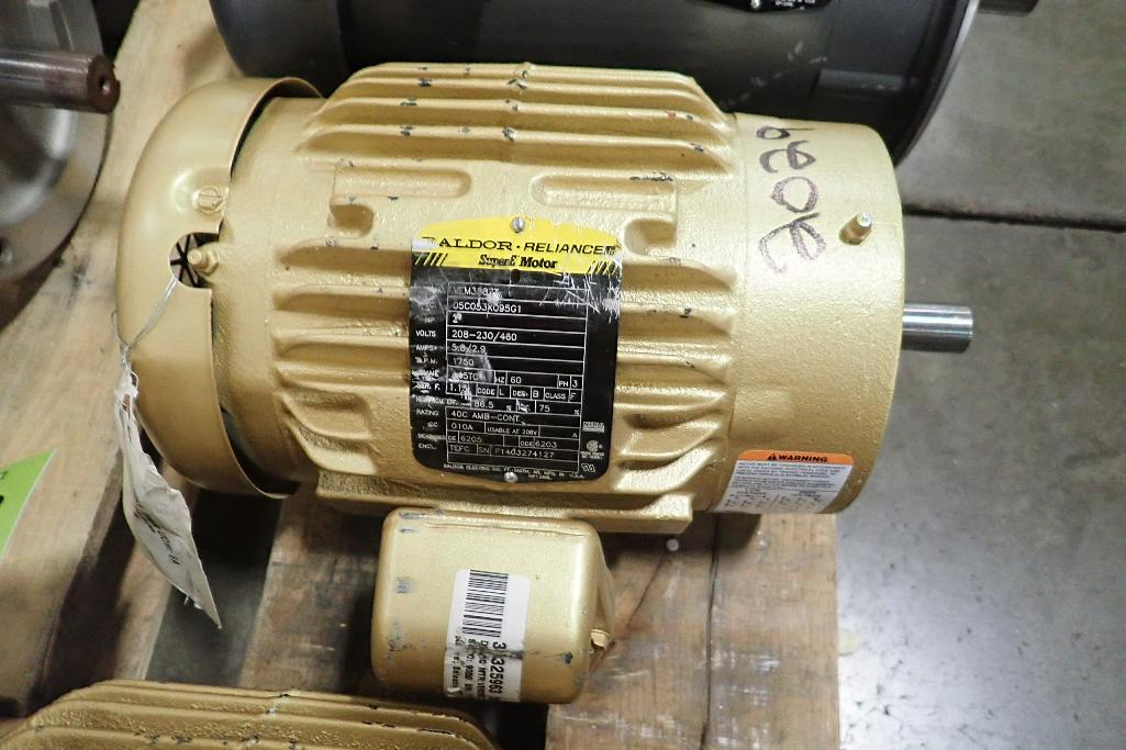 Lot 2029 - (2) Baldor 2 hp electric motors. (See photos for additional specs). **Rigging Fee: $25** (Located in