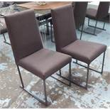 B&B ITALIA WITH MAXALTO SOLO DINING CHAIRS, a set of eight, Antonio Citterio, 90cm H.