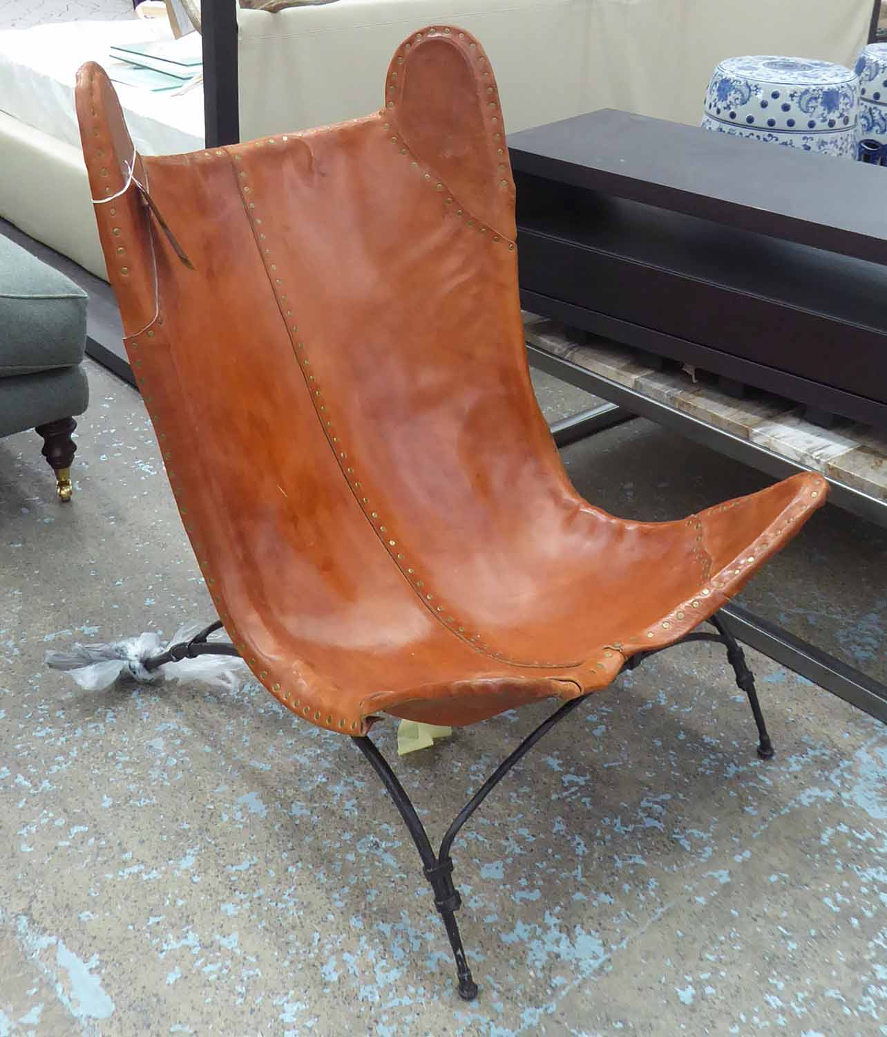 RALPH LAUREN HOME NEW SAFARI CAMP CHAIR, (can retail in excess of £7500), 102cm H.