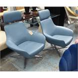 COALESSE BOB LOUNGE CHAIRS, a pair, exclusive design by Pearson Lloyd, 110cm H.