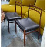 GUSTAV BAHUS MODEL 147 DINING CHAIRS, a set of six, by Alf Aarseth, 1960's rosewood, 80cm H.