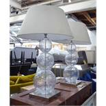 PORTA ROMANA LARGE PASTEUR TABLE LAMPS, a pair, with shades, 76cm H.
