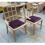 JULIAN CHICHESTER HAROLD CARVER CHAIRS, a set of four, 95cm H.
