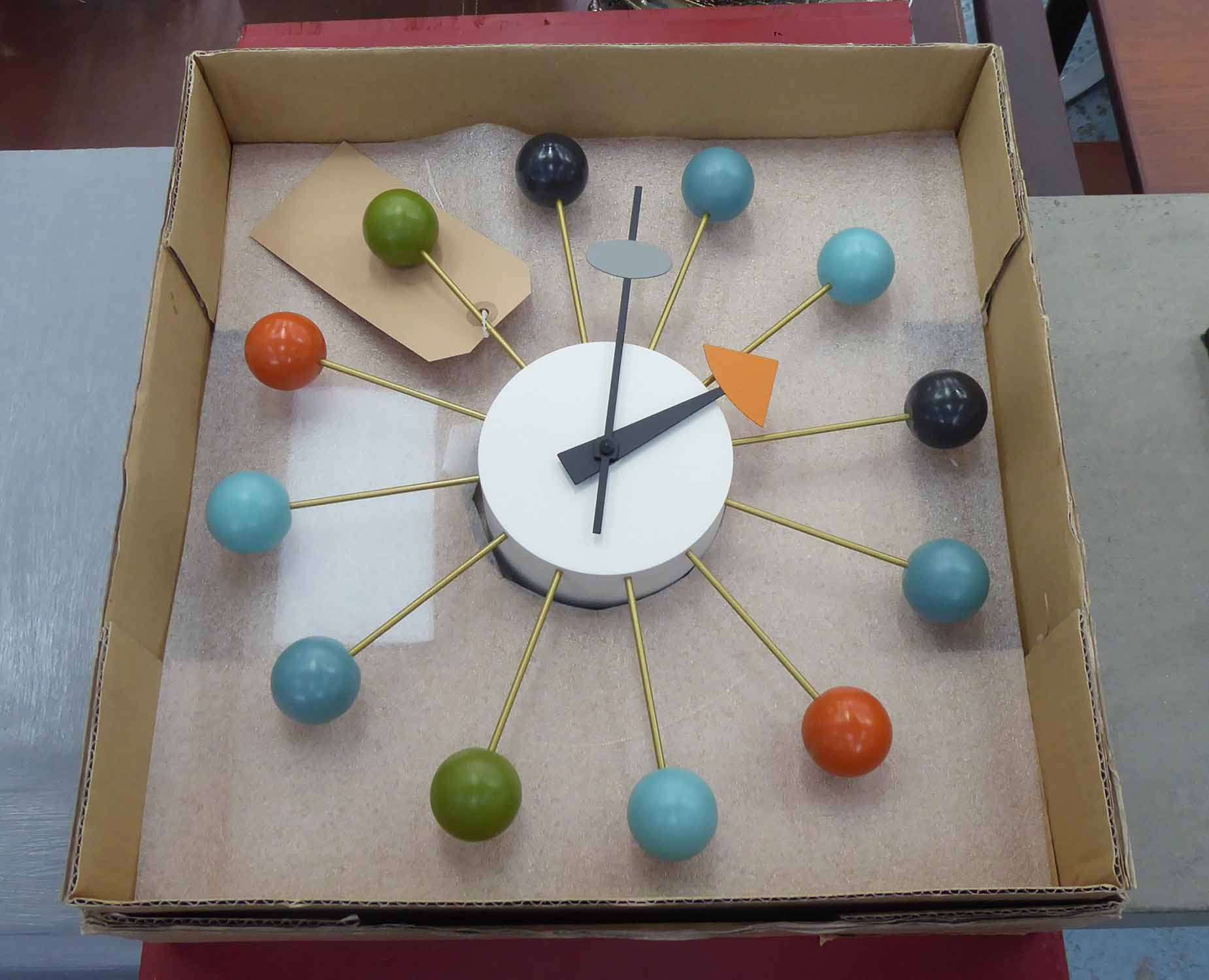 Lot 7 - VITRA BALL CLOCK BY GEORGE NELSON, with box, 32cm Diam.