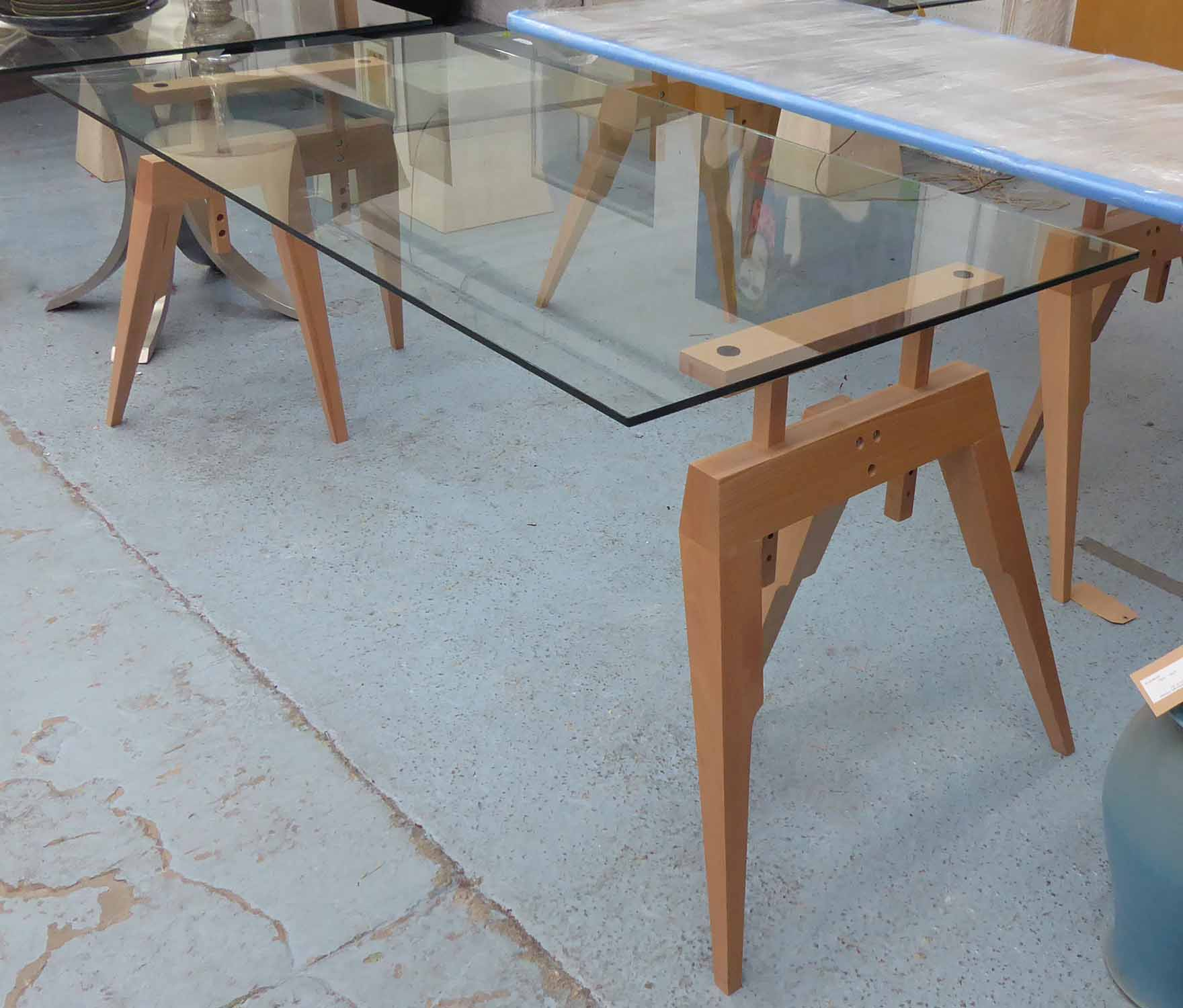 Lot 23 - SCP COMPASS TABLE, by Matthew Hilton, 180cm x 90cm x 84cm.