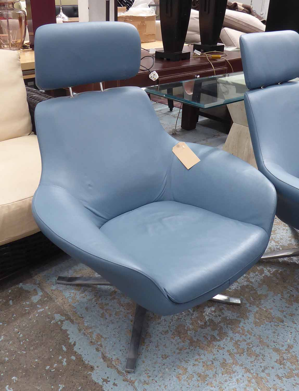 Lot 22 - COALESSE BOB LOUNGE CHAIRS, a pair, exclusive design by Pearson Lloyd, 110cm H.
