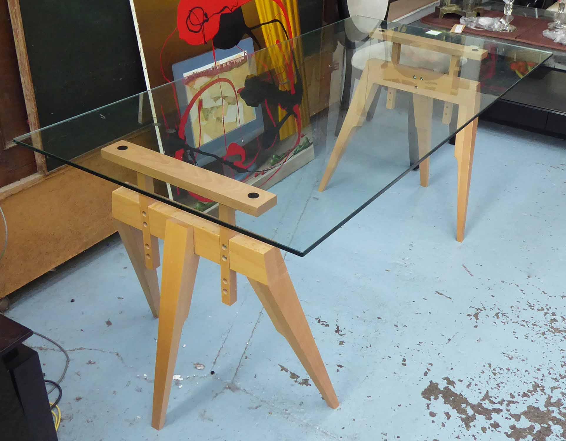 Lot 24 - SCP COMPASS TABLE, by Matthew Hilton, 180cm x 90cm x 84cm.