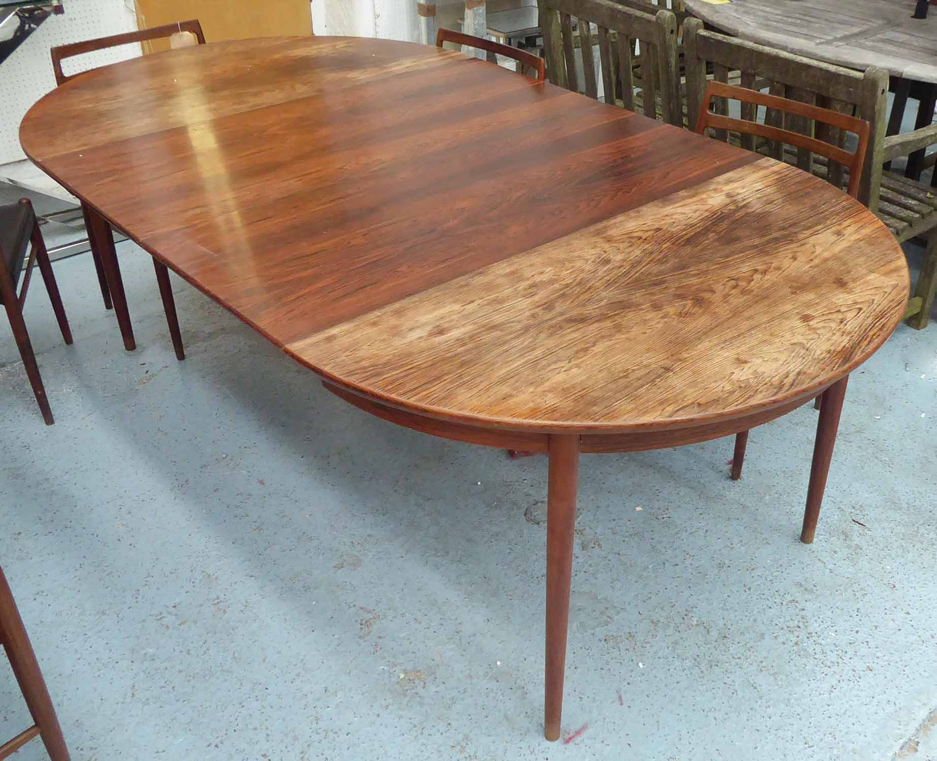 Lot 37 - GUSTAV BAHUS STYLE DINING TABLE, with two leaves, 210cm x 120cm x 74cm.
