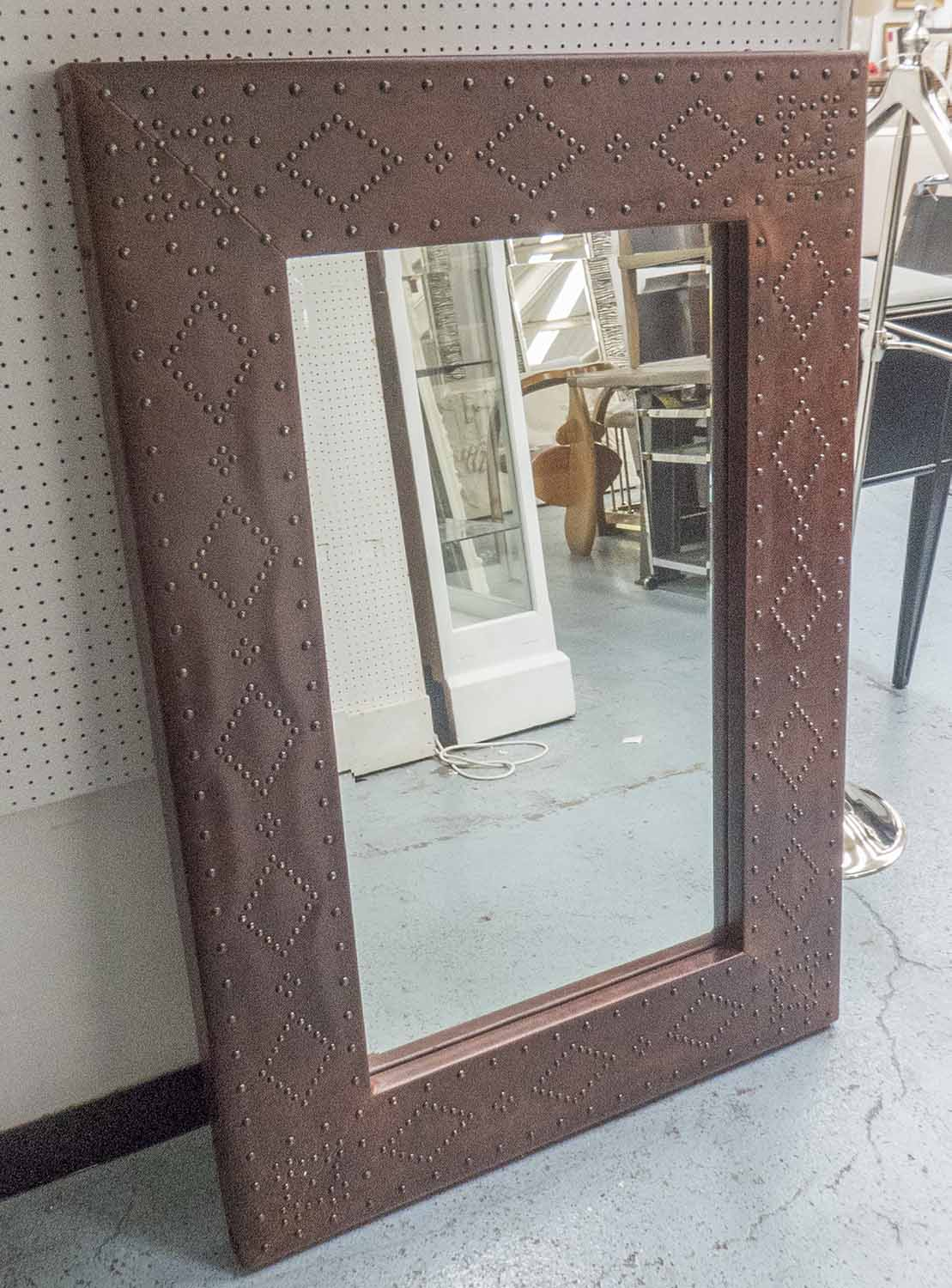 Lot 42 - RALPH LAUREN HOME SAFARI MIRROR, 224cm x 84cm.