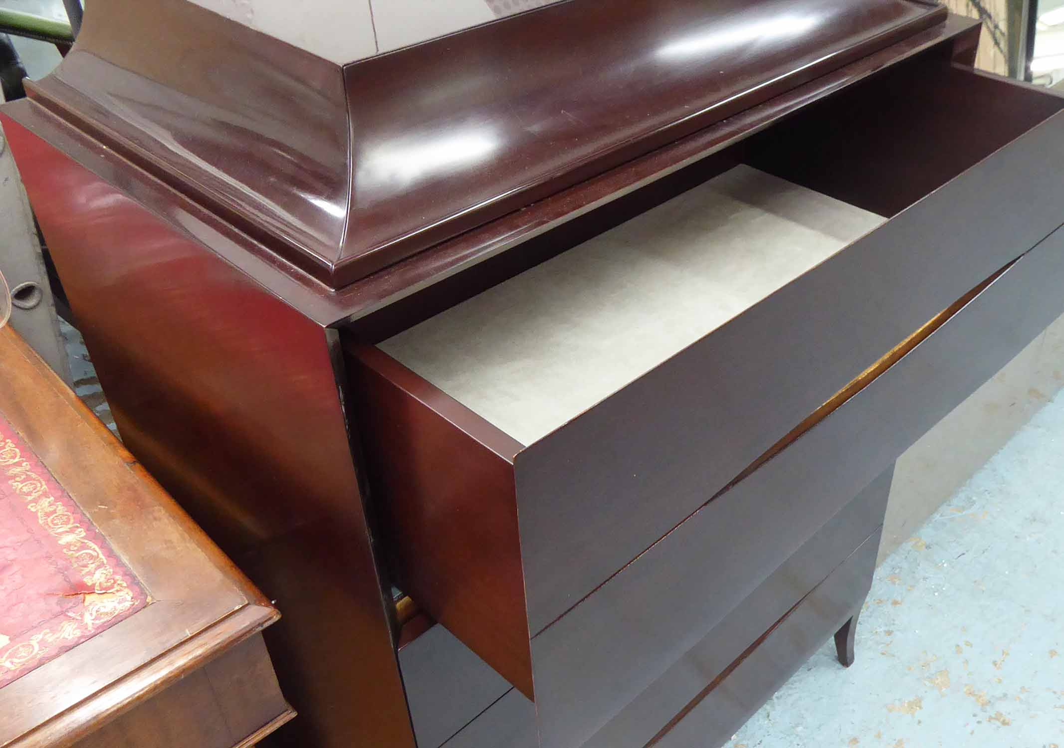 Lot 53 - CHRISTOPHER GUY SILK CUT CHEST OF DRAWERS, 120cm H.