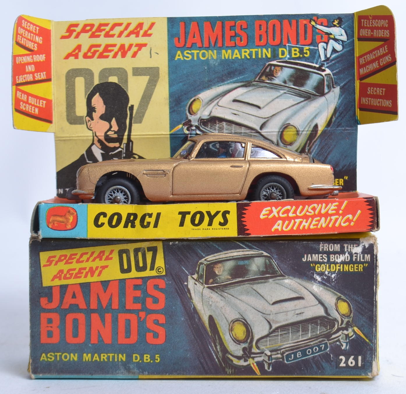 corgi james bond; original vintage corgi james bond 007 gold aston
