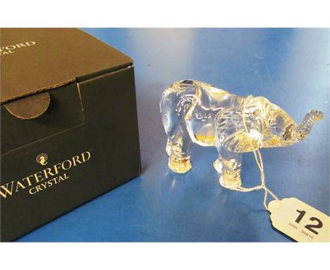 A Waterford Crystal elephant (boxed)