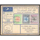 FIVE SUDAN FIRST DAY COVERS - 1954