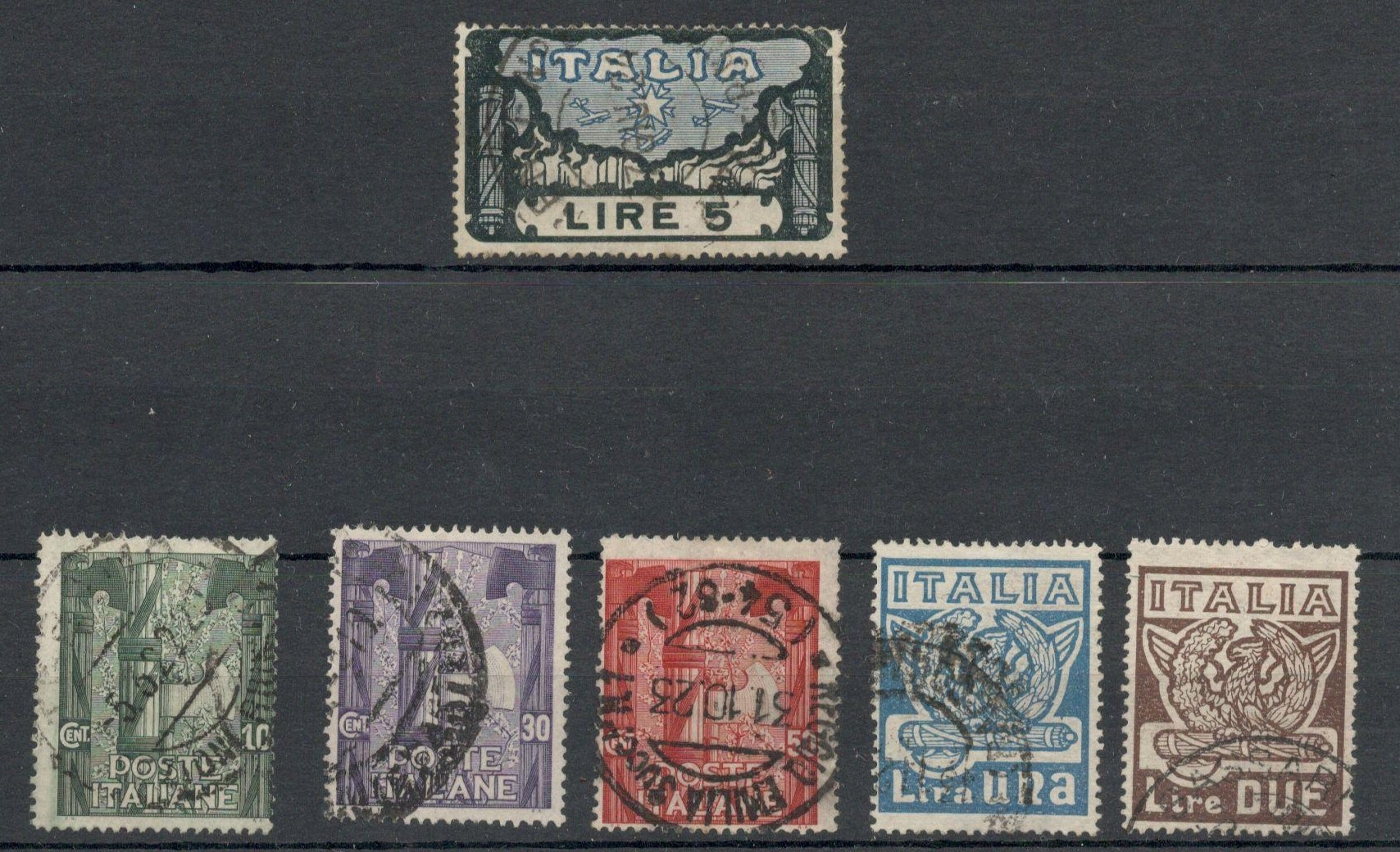 ITALY 1923 ANNIVERSARY OF THE MARCH OF THE FASCIST ON ROME - USED